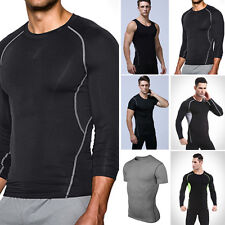 Mens Sport Compression Base Layers Tops Tight MANS T-Shirts Vests Athletic Tops