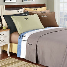 """Real 800TC 100% Egyptian Cotton Ultra Soft Solid 4PC Sheet Set 12""""Deep CA Size"""