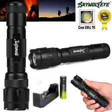 W-878 5000Lm 5 Modes CREE XML T6 LED Flashlight Lamp Torch + Battery+Charger US