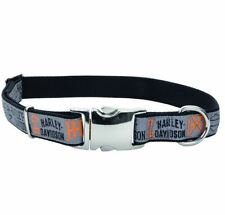 Harley Davidson Ribbon Overlay Bar & Shield Adjustable Dog Collar and/or Leash