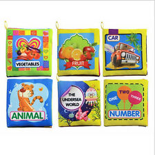 Cute Kids Baby Intelligence development Cloth Bed Cognize Book Educational Toys