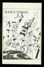 BLOOD AND THUNDER FANZINE #7 1967-ORIGINAL COMIC STRIPS FN/VF