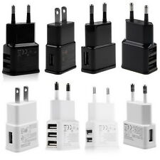2A 5V 1/2/3-Port USB Wall Adapter Charger US/EU Plug For Samsung S4 5 6 iPhone W