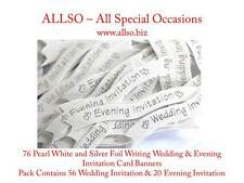 Quality WEDDING & EVENING INVITATION Banners, Labels & Toppers - Silver & Gold