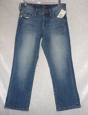 Lucky Brand Womens Cropped Jeans Easy Rider Straight leg 5 pockets size 0 NEW