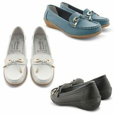 NEW WOMENS LADIES COMFORTABLE LOAFER SHOES CASUAL COMFY MOCCASIN PUMPS UK SIZES