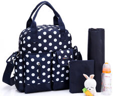 5Pcs Multi Function Baby Diaper Nappy Changing Bag  Mummy Tote Handbag
