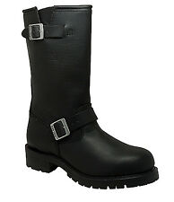 NEW Mens AdTec Ride Tecs Engineer Leather Boots Black Motorcycle Work Boot 1440