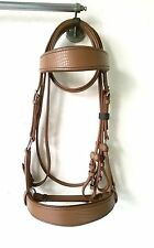 Yesrd beautiful Side pull Horse Bitless Bridle croc Leather BB-07