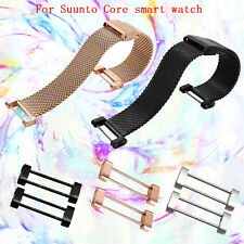 24mm Milanese Stainless Quick Release Watch Band Strap+ Adapters For Suunto Core