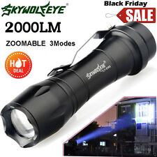 Super Bright 2000LM CREE Q5 AA/14500 3 Modes ZOOMABLE LED Flashlight Torch Light