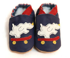 Blue Rhino Soft Sole Leather Baby Shoes New 0 - 12 Months Brand New