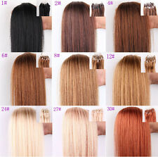 Fashion Human Hair Extensions Easy Loop Micro Rings Beads Tipped 100s Grade