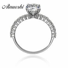 1.25 ct Round Cut Man Made SONA NSCD Diamond Silver 925 Wedding Engagement Ring