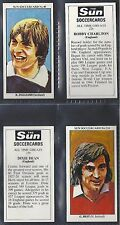 SUN - SOCCER CARDS FOOTBALL (NUMBERS 631-660) PLEASE SELECT YOUR CARD.