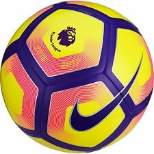 NEW Nike Pitch 2016/17 Premier League Football Ball - Yellow Purple - Size 3 4 5