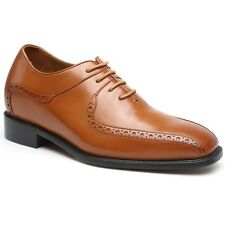 Elevator Shoes Men 2.95'' Taller Leather Oxford Tuxedo Dress Lifting Shoes