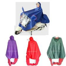 Waterproof PVC Raincoat Poncho for Motorcycle Electric Vehicle Scooter Men/Women