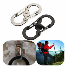 Camping Keychain Climbing S Ring Clip Carabiner locking Hook Hiking Lock Buckle