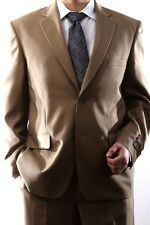MENS SINGLE BREASTED 2 BUTTON TAN DRESS SUIT, PL-60212N-204-TAN