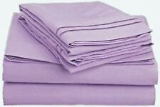 1 Fitted + 2 Pillow case 1000 Thread Count Egyptian Cotton Lavender Solid