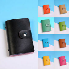 Men Women Leather Credit Card Holder Case Card Holder Wallet Business Card Purse