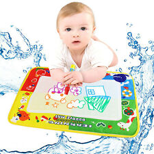 New 4 Colors Water Drawing Mat Board &Magic Pen Doodle Children Kids Toy Gift