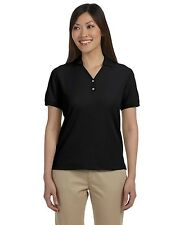 NEW Devon & Jones Polo Shirt Top Women's Pima Pique Short Sleeve D100W
