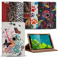 """Fits ACER Iconia One 10.1"""" Tablet - 360 Rotation Printed Pattern Universal Case"""