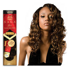 Shake N Go 100% Remy Human Hair Weaving Extension Curl SAGA Gold Finger Roll 14""