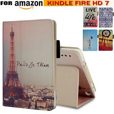 "Smart Leather Shell Fold Stand Case Cover For Amazon Kindle Fire HD 7"" Tablet UK"