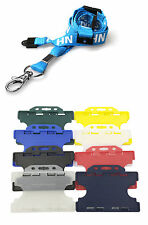 Double Sided NHS ID Card Holder With NHS Lanyard Double Breakaway Safety Clip