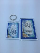 TO MY BROTHER Keyring or Fridge Magnet - GIFT PRESENT IDEA