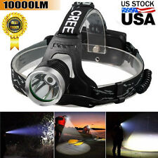 8000LM CREE XM-L XML T6 LED Headlamp Tactical Headlight Flashlight Head Lamp US