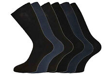 New Mens 100% Cotton LOOSE Wide Gentle Top Socks No Non Elastic 3 Pack