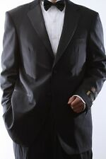 MENS TWO BUTTON SUPER 140S WOOL BLACK TUXEDOS, SML-T40412-BLK