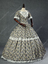 Victorian Southern Belle Maiden Prairie Dress Reenactment Theater Clothing 168