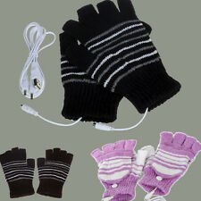 5V USB Powered Heating Heated Winter Hand Warmer Gloves Washable Unisex Mittens
