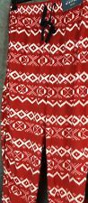 Mens Stafford fleece Pajama red & white bottoms with pockets S,M L XL