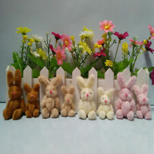 Mini 8 cm Fluffy Cute Bunny Rabbits  Party Bags/ Favor/Baby Shower/Key-ring
