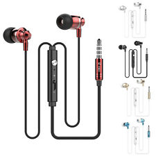 Universal 3.5mm In-Ear Super Bass Stereo Earbuds Earphone Headset For iPhone LOT