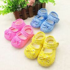 Vogue Anti-slip Toddler Kids Baby Shoes Girls Soft Sole Cotton Crib Shoes 0-18M