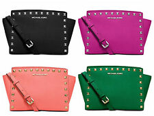 NWT MICHAEL Michael Kors Selma Stud Medium Messenger Multi Color $248