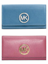 NWT MICHAEL Michael Kors Fulton Carryall Wallet Leather Multi Color $148