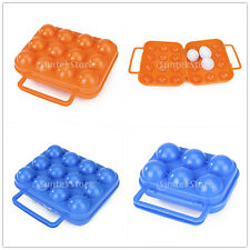 Portable Picnic Camping Plastic Egg Box Case 6 or 12 Holder Storage Container