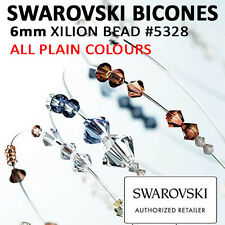 SWAROVSKI Crystal Xilion BICONES Beads: 6mm #5328: ALL PLAIN COLOURS: Wholesale