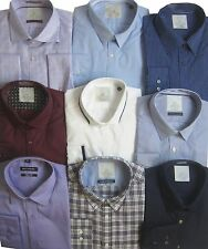 """Ex MS Mens Shirts Office Work Formal New Collar Long Sleeve 17.5"""" NEW D"""
