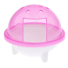 Pet Hamster Bathtub UFO Type Bathroom Cage Dust Bath Room Sauna Toilet