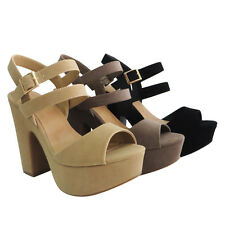BAMBOO Women's Platform Ankle Straps Chunky Heel Party Sandals SANDBAR-15S
