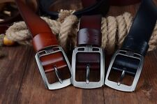 COWATHER 100% cowhide genuine leather belts for men brand Strap male pin buckle